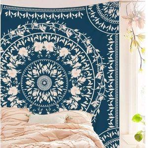 Bohemian/Indie Mandala Floral Pattern Tapestry